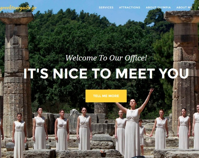 tour guide for ancient olympia
